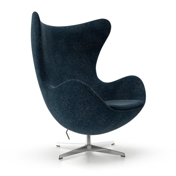 Utilizing curvaceous, organic form inspired by the original 20th century modern classic design, the Columbia chair is crafted with impeccable accuracy and superior materials.  This chair has been ANSI/BIFMA tested and certified for commercial as well as residential use.  Its inner frame is brilliantly constructed from reinforced fiberglass which sits upon a cast aluminum base.  Its high-density molded foam cushioning is upholstered in a highly durable Gabriel DK Fabric which has a rub count of 75,000.   A tilt mechanism is preset at the factory to provide added comfort.  Auto-centering feature returns the chair to the original position.  Its comfortable chamber-like seat blocks out exterior noise, while its unique look and bold design perfectly complements your modern home.     Overall Dimensions: 32 inches width x 28.5 inches depth x 40.5 inches height  Seat Height: 16 inches height  Egg-like shape and body cradling design provide optimal comfort  ANSI/BIFMA tested and certified for commercial as well as residential use  Upholstered in your choice of a highly durable Gabriel DK - Medley Fabric I grey, red, orange, black, green or champagne  Inner frame made from reinforced fiberglass which sits upon a cast aluminum base  Tilt mechanism is preset at the factory to provide added comfort.  Auto Centering Feature returns the chair to the original position  Also available in orange, red, navy, light blue and black wool fabric    Please note:  Options of excessive weight or bulk will be shipped via Freight carrier and our Oversized Item Delivery/Return policy will apply.  Please click here for more information.