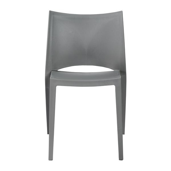 Polypropylene      Chair Design: Arm Chair  Chair Type: Dining Chairs, Sets  Style: Modern, Contemporary  Material: Polypropylene  Assembly: Assembled  Set Size: Set of 4  Chair Back Height: Standard  Seat Height: Short - 16-22 in.  Back Style: Solid Back  Color: Grey