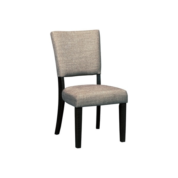 The Zurani upholstered dining room chair brings a touch of sumptuous comfort and easy-breezy sensibility to the table. Textural weave fabric incorporates a fresh element that feels right at home.        Chair Design: Side Chair   Chair Type: Dining Chairs   Material: Wood, MDF, Metal   Assembly: Assembled   Set Size: Set of 2   Back Style: Solid Back   Finish: Wood Finish   Color: Grey