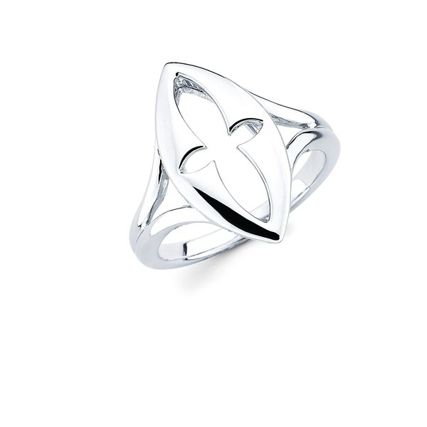 This Gorgeous 925 Sterling Silver Openwork Cross Ring is truly eye-catching. This Beautiful Ring is great for an evening out, special occasion or everyday wear!    Metal information and dimensions:    Metal: 925 Sterling Silver  Finish: High Polish  Style: Ring, Fashion Ring   Ring dimensions: 21mm X 10mm  Shank - 2mm     All weights and measurements are approximate and may vary slightly from the listed information.           All measurements are approximate and may vary slightly from the listed dimensions.     Click here for help finding your ring size.