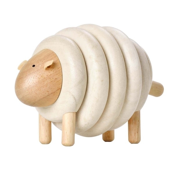 This sheep is oh so cute and very well made. Children can lace corresponding colors together to form a sheep. The toy helps them learn basic colors and sequence. Perfect for building fine motor skills, logical thinking and hand eye coordination. When assembled everything is held firmly in place making this toy versatile for all kinds of pretend play. This Toy Is Made In Thailand From All Natural Organic Recycled Rubber Wood.     WARNING:   Attention California residents: This product may contain chemicals known to the State of California to cause cancer and birth defects or other reproductive harm.   www.P65Warnings.ca.gov