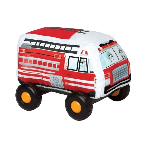 "Introduce your toddler to their first, safe toy vehicle with the Bumpers by Manhattan Toy!  With a soft-body and smooth, graphic printed fabric, these durably constructed toy vehicles are ready for whatever your little can throw at them.  The wheels on each Bumper vehicle click with every roll and each toy vehicle in the collection features a Velcro-like tag in the front and back - lock them all together for a train-like playset.  The current Bumpers lineup includes a toy SUV, Hatchback, School Bus and Firetruck.  Let imaginations soar with these entry level toy vehicles!   Since 1979, Manhattan Toy has been making award-winning, high quality, educational toys for your baby, toddler or kid. From toddler toys and playsets to trains and toy vehicles, our goal is to provide the safest and best toys available. All of our products, from the newest concepts to our time-tested classics, are innovatively designed to inspire imaginative play and are routinely safety tested to pass strict CPSC, ASTM, EN71 and Health Canada safety standards. Bumper toy vehicles by Manhattan Toy feature a safe, soft-bodied construction with smooth rolling plastic wheels. Bumpers are a perfect first vehicle toy for your little hands-on explorer - no hard angles, sharp pieces or small parts. These toddler toy vehicles are covered in a durable fabric with printed graphics, featuring wheels that click with every roll. Each Bumper vehicle features a Velcro-like strip at the front and back - attach the Bumpers together for a train-like vehicle playset. Bumpers are a suitable toy for ages 1 year and up, each vehicle measures 6.5"" x 9"" x 7"".     WARNING:   Attention California residents: This product may contain chemicals known to the State of California to cause cancer and birth defects or other reproductive harm.   www.P65Warnings.ca.gov"