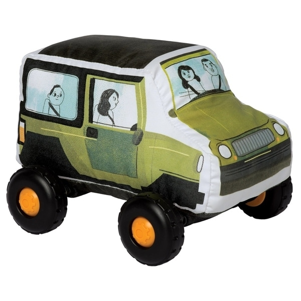 "Introduce your toddler to their first, safe toy vehicle with the Bumpers collection by Manhattan Toy! With a soft-body and smooth, graphic printed fabric, these durably constructed toy vehicles are ready for whatever your little can throw at them. The wheels on each Bumper vehicle click with every roll and each toy vehicle in the collection features a Velcro-like tag in the front and back - lock them all together for a train-like playset. The current Bumpers lineup includes a toy SUV, Hatchback, School Bus and Firetruck. Let imaginations soar with these entry level toy vehicles! Since 1979, Manhattan Toy has been making award-winning, high quality, educational toys for your baby, toddler or kid. From toddler toys and playsets to trains and toy vehicles, our goal is to provide the safest and best toys available. All of our products, from the newest concepts to our time-tested classics, are innovatively designed to inspire imaginative play and are routinely safety tested to pass strict CPSC, ASTM, EN71 and Health Canada safety standards. Bumper toy vehicles by Manhattan Toy feature a safe, soft-bodied construction with smooth rolling plastic wheels. Bumpers are a perfect first vehicle toy for your little hands-on explorer - no hard angles, sharp pieces or small parts. These toddler toy vehicles are covered in a durable fabric with printed graphics, featuring wheels that click with every roll. Each Bumper vehicle features a Velcro-like strip at the front and back - attach the Bumpers together for a train-like vehicle playset. Bumpers are a suitable toy for ages 1 year and up, each vehicle measures 6.5"" x 9"" x 7""."