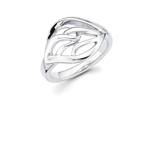 This Gorgeous and uniquely designed 925 Sterling Silver Openwork Leaf Ring is going to have everyone asking where you go it! This go-to and universal Ring is great for an evening out, special occasion or everyday wear!    Metal information and dimensions:    Metal: 925 Sterling Silver  Finish: High Polish  Style: Ring, Fashion Ring   Ring dimensions: 13mm X 12mm   Shank - 3mm     All weights and measurements are approximate and may vary slightly from the listed information.           All measurements are approximate and may vary slightly from the listed dimensions.     Click here for help finding your ring size.
