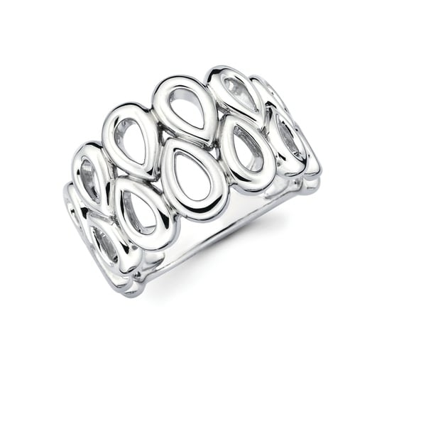 This uniquely designed 925 Sterling Two-Tier Teardrop Fashion Ring is going to have everyone asking where you go it! This go-to and universal Ring is great for an evening out, special occasion or everyday wear!    Metal information and dimensions:    Metal: 925 Sterling Silver  Finish: High Polish  Style: Ring, Fashion Ring   Ring dimensions: Width - 14mm   Shank - 4mm     All weights and measurements are approximate and may vary slightly from the listed information.           All measurements are approximate and may vary slightly from the listed dimensions.     Click here for help finding your ring size.