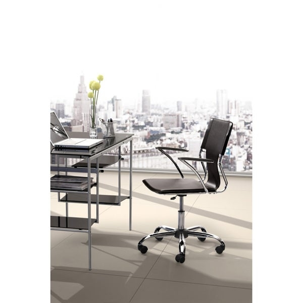 Complete your home office with a Tristan office chair  Chair extends to 37 inches high   Furniture available in a black color option   California Proposition 65 Warning: This product may contain one or more chemicals known to the State of California to cause cancer, birth defects, and/or other reproductive harm.