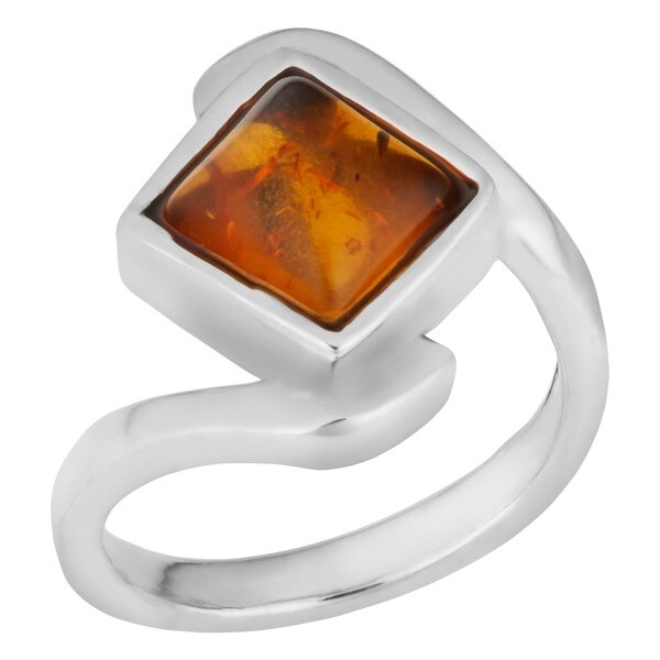 Place this stylish gemstone sterling silver ring on your finger to add an updated look to any outfit. The focal point of this elegant Thai jewelry is its sterling silver metal and Baltic amber gemstone, which makes the ring pop with style and color.   Product Features:   Explore the beauty of Thai jewelry with a lovely sterling silver and Baltic amber ring  Ring is crafted of .925 sterling silver  World jewelry is designed and handcrafted by talented artisans from Thailand  Ring face measures 0.45 inch wide x 0.6 inch deep    Story Behind the Art:  This piece of jewelry is handcrafted by talented artisans in Thailand whose only goal in life is to create silver jewelry and share it with the world. We hope that you help them keep their mission alive by purchasing one of their uniquely made creations.    What is Worldstock?     The handcrafted touch of artisan skill creates variations in color, size and design. If buying two of the same item, slight differences should be expected. Note: Color discrepancies may occur between this product and your computer screen.  Imported     All weights and measurements are approximate and may vary slightly from the listed information. See  Treatment Guide   for further information.         All measurements are approximate and may vary slightly from the listed dimensions.       Click here for help finding your ring size.       T.W. (total weight) is approximate. The weight may vary up to two-tenths of a carat.