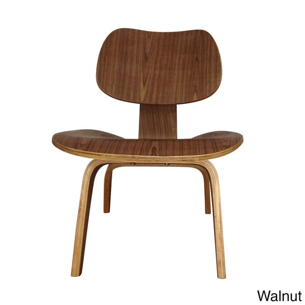 Accentuate your modern decor with the retro look of this LCW plywood lounge chair. With a molded back and seat, this attractive chair is designed for comfortable seating. The beautiful finish and wood veneer materials provide a sophisticated look that complements similar decor items, while the standard back height offers additional support.       Set includes: One (1) chair    Materials: Wood veneer, plywood    Finish: Natural, walnut, dark walnut, black    Weight capacity: 250 pounds    Seat dimensions: 15.5 inches high x 22 inches wide x 24   inches deep    Dimensions: 26.5 inches high x 22 inches wide x 24.5 inches   deep        Assembly required.