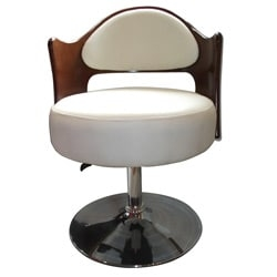 Add a modern feel to your living room, dining room or bar with a Caravan adjustable leisure chair   Chair has a beautiful white bicast leather material   Dining chair features a metal frame   Chair features a hydraulic lift for smooth adjustment   Can be used as a counter height stool   Chair measure 31.4 inches high x 22.7inches wide x 21.6 inches deep   Seat height is adjustable from 19.1 inches to 24.8 inches     Assembly Required         Assembly Required