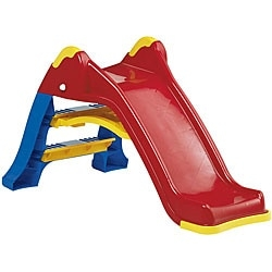 Your kids will love playing on this plastic toy slide  Outdoor play set is great for outdoor use  Large plastic toy makes a great gift for your child  Colorful slide is engineered for safety and built to last  Extremely sturdy when assembled, but can also fold for easier storage when not in use  Packaged in a colorful, corrugated carton with a full color litho label     Please note that this product is delivered via curbside LTL (freight) carrier. Additional fees will apply for threshold or white glove delivery service.