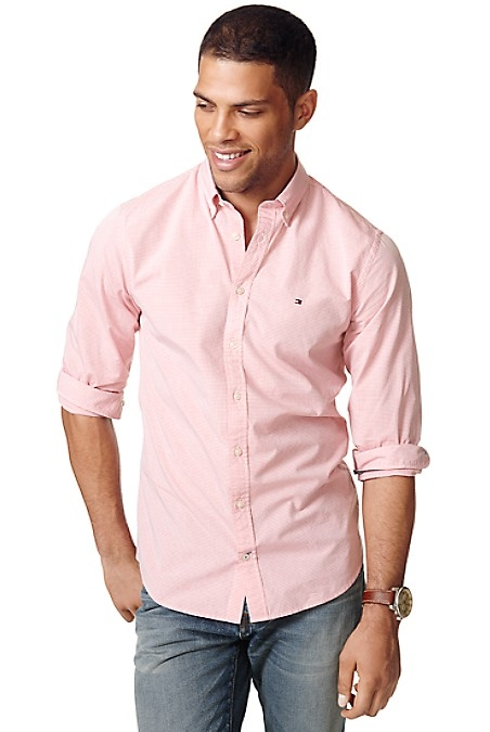 Tommy Hilfiger Men's Shirt. Styled From Premium Cotton In A Versatile Stripe-Our Shirt, Washed For Softness In A Slim, Modern Fit. New York Fit (Our Slimmest Fit). 100% Cotton. Button-Down Collar, Microflag At Chest. Machine Washable. Imported.