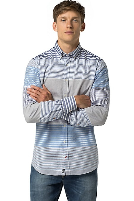 Tommy Hilfiger Men's Shirt. Woven From Premium Cotton In A Custom Design, We Present A Modern Take On The Classic Shirt You've Loved For Years. New York Fit. 100% Cotton. Button-Down Collar. Machine Washable. Imported.