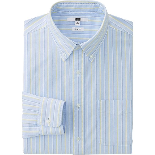 UNIQLO Oxford Shirt, Blue, XS