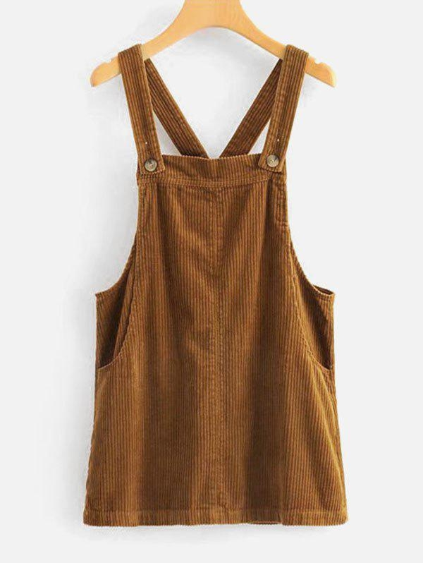 Style: Casual Occasions: Casual Material: Cotton, Polyester Silhouette: A-Line Dress Type: Pinafore Dress Dresses Length: Mini Collar-line: Square Collar Sleeves Length: Sleeveless Decoration: Pockets Pattern Type: Solid With Belt: No Season: Fall, Winter Weight: 0.3500kg Package: 1 x Dress