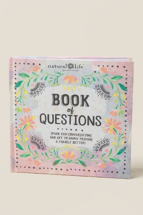 The Book of Questions is a a fun conversation started book.