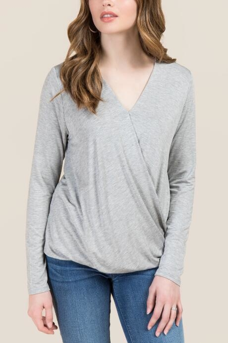 The Taye Surplus Basic Top features a soft knit fabric.