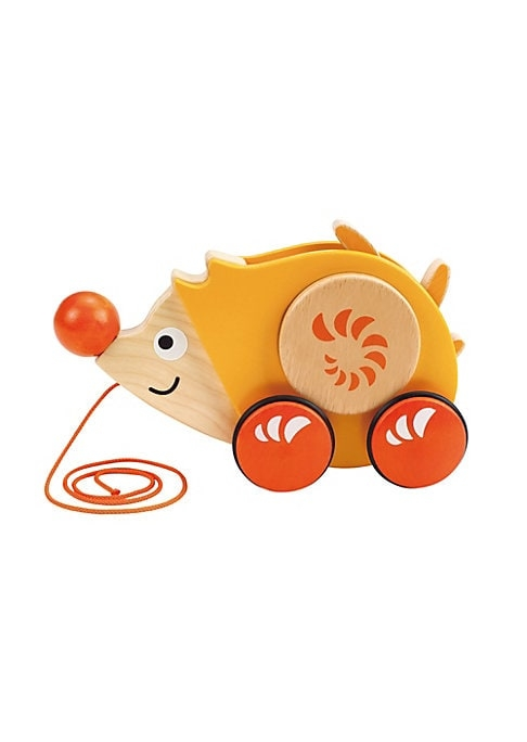 From the Push & Pull Collection. Adorable wooden hedgehog pull toy. String pull. Wheeled bottom.9W x 6L x 3D.Recommended for ages 1 and up. Wood/TPE/metal. Imported.