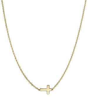 14K Yellow Gold Small Cross Necklace, 18 - 100% Exclusive-Jewelry & Accessories
