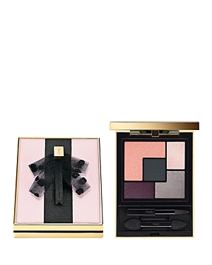 Exclusively at Bloomingdale's, Yves Saint Laurent Beauty introduces the limited-edition Mon Paris Couture Palette. Dressed in the signature lavaliere, this gorgeous palette captures the colors of a summer sunset. Shades include rosy pinks, shimmering silver and deep lavender. Color glides on smoothly, evenly and blends effortlessly to create a daring eye look that lasts from dusk to dawn. Wear the rosy pink shades for a no-makeup makeup look, or the deep lavender and shimmering silver for a nigh