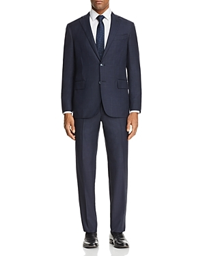 Cut slim and finished with a tonal check, this suit from Eidos is crafted in Italy with a signature attention to detail and ensures your best-dressed look makes a statement.