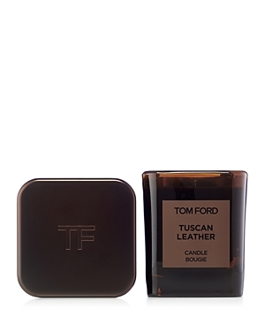 Supple. Primal. Extravagant. This interpretation of leather captures its primal, animalistic scent and its smooth, voluptuous qualities. The addition of olibanum, night-blooming jasmine and black suede gives it a distinctive, modern spin that is raw yet refined, sensual yet sophisticated. Immerse yourself in the world of Tom Ford with artfully crafted Private Blend Candles designed to scent and style your home. The Tom Ford Private Blend Candle collection features the most celebrated Private Ble