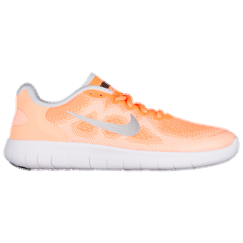 Back for round two, this updated version of the Nike Free RN 2017 still offers the natural movement you love and the durable protection you need. Updates to the Free RN 2017 include eliminating layers from the circular knit upper, which cuts down on the shoe's weight while creating a more snug, one-to-one fit. All seams have also been eliminated, enhancing the barely there feel you love about the Nike Free line. The Free RN 2017's lightweight simplicity is perfect for runners looking to dip a toe into a more flexible experience. Its clean lines also make it a great finishing touch to casual looks, letting you easily transition from the playground to practice. You deserve more freedom in all that you do. Lace up the Nike Free RN 2017. Open-hole knit upper for a breathable, lightweight fit that won't slow you down. Foam cushioning is durable enough to double as midsole and outsole, keeping the shoe light while still providing protection you can trust. Tri-star flex grooves in the outsole expand at impact and contract at toe-off, following the natural movement of the foot for an incredibly free, flexible feeling. Rubber pods in high-wear areas of the outsole add durable traction where it's needed most. Wt. 5.6 oz.