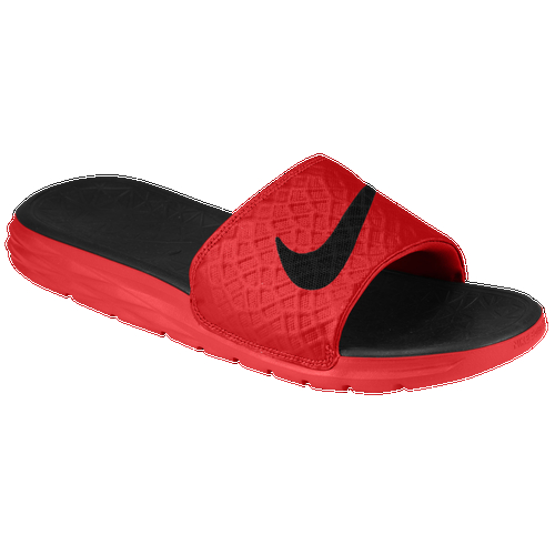 Perfect for to and from the gym or practice, the Nike Benassi Solarsoft Slide 2 blends Nike's innovative Hyperfuse construction with the ultra soft comfort of Solarsoft foam for maximum comfort and style. Breathable, flexible upper features innovative Nike Fuse technology and is constructed without stitching. Dual-durometer midsole/outsole features a soft, pliable Nike Solarsoft foam midsole with optimal airflow and drainage. Nike Solarsoft foam in a harder durometer for durable traction.