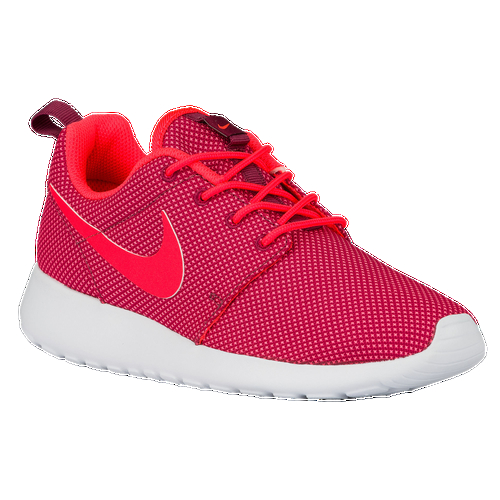 Everywhere you look, you can see ladies rocking a pair of women's Roshe Ones. They're one of the most versatile shoes from Nike. Wear them with or without socks, dress them up or down - the Roshe One can do it all. Its superior ventilation comes from the ultra-lightweight mesh textile or suede upper, offering you the breathability your feet need. The full-length Phylon™ midsole provides all-day comfort and support, while the waffle outsole gives you traction where you need it the most. Mesh textile or suede upper provides breathability and superior style. Full-length Phylon™ foam midsole offers cushion and support. Durable overlay the midfoot gives support in areas you need it. Mesh or suede at the forefoot provides durability. Flex grooves in the outsole offer a natural range of motion. Waffle lug outsole offers durability and traction.