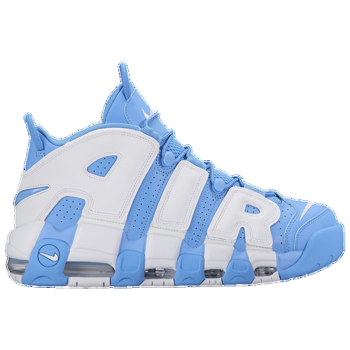 Up the ante and up your game with the classic Nike Air More Uptempo. Nothing's out of reach when you have a midsole made of three performance Air-Sole units. Full-grain leather with elastic reinforcement combines for a premium fit and feel, and the durable rubber outsole ensures grip and reliable traction. Loops at the tongue and heel make on and off a breeze. Full-grain leather upper for a secure fit. Midsole is made up of three Air-Sole units for additional coverage Durable rubber outsole gives you confidence on the court or on the pavement.