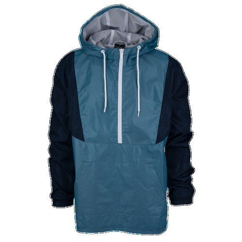 Put on fresh style for the season. Reflective accents for visibility in low light. Perforated for ventilation. Half-zip design for comfort. Front pouch pocket. Hood with drawcord for an adjustable fit. Water resistant for protection from the elements. 100% polyester. Imported.