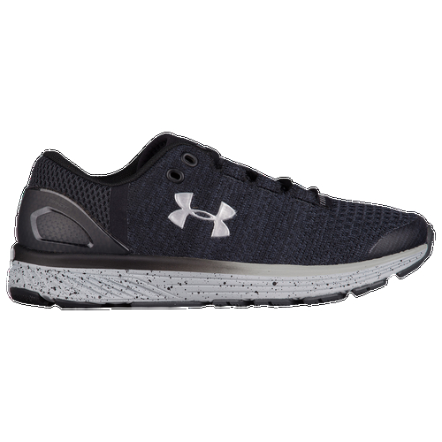 Run away with a new PR when you choose the lightweight fit and responsive cushioning of the Under Armour Charged Bandit 3 running shoe. Dual-densiity Charged Cushioning in the midsole delivers firm impact protection in the heel and softer foam in the forefoot for a bouncy toe-off that propels you forward into your next stride. The shoe's Threadborne upper and seamless SpeedForm construction offer lightweight strength and support that hugs your foot and moves with you as you run. The result? A fast ride that keeps feet feeling fresh, mile after mile. Threadborne upper material delivers lightweight strength and support that stretches and moves with the foot as you run. UA SpeedForm construction seamlessly supports and molds to the foot for a snug, one-to-one fit. External heel counter helps hold your foot in place over the footbed. Anti-microbial Ortholite sockliner adds underfoot cushioning and keeps feet feeling fresh. Dual-density Charged Cushioning midsole combines areas of cushioning and support to comfortably absorb impact and return energy at toe-off. Solid rubber in high-wear areas of the outsole for dependable traction on multiple surfaces. Anatomically placed flex grooves in the outsole encourage a full range of motion.