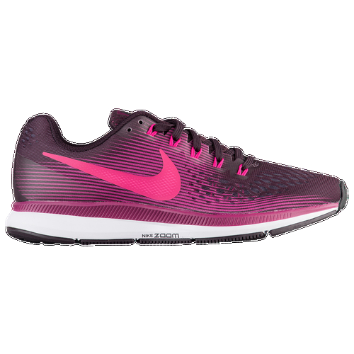 One of the most trusted running shoes in the Nike line, the Air Zoom Pegasus 34 is back with a snug, one-to-one fit and improved traction. The Pegasus 34 appeals to a wide range of runners at all levels because of it's supportive fit, neutral cushioning, and fast feel. This experience starts with the shoe's upper, which is constructed from Nike's Flymesh material, a dual-layer system of monofilament yarns that delivers lightweight strength and an ultra-breathable feel, so you stay fast and fresh even on your longest run. Zoom Air units in the heel and forefoot work together with soft Cushlon ST foam to provide the perfect combination of comfort and response, absorbing impact and keeping you light on your feet. The finished product is a dependable running shoe with the versatility to tackle any workout. Breathable Flymesh upper uses two layers of monofilament yarn to deliver lightweight strength and a comfortable fit. Dynamic Flywire cables wrap the midfoot and integrate with the shoe's laces, allowing you to adjust the level of support and lockdown for a custom fit with every wear. Partial mesh bootie wraps the foot for a snug, sock-like fit. Internal heel counter holds the foot securely in place over the footbed. Reflective elements keep you safe and visible in low light. Fitsole sockliner conforms to the shape of your foot for extra cushioning and a custom fit. Premium Cushlon ST foam midsole is soft and springy, returning energy with every step. Low-profile Zoom Air uni.