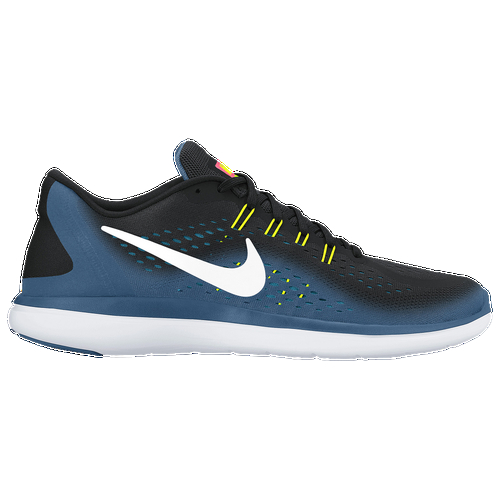 Lightweight and flexible, the Nike Flex RN 2017 enhances your natural stride for a more comfortable, efficient run. One-piece engineered mesh upper for a breathable, lightweight fit. Dynamic Flywire cables wrap the midfoot for adjustable lockdown through the laces. Soft Phylon foam within a firm carrier combines comfort and durability for a smooth ride, mile after mile. Tri-star outsole pattern flexes with the foot, allowing a natural range of motion throughout your stride. Wt. 8.1 oz.