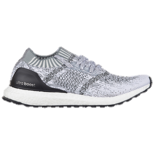 Release your competitive edge with the adidas Ultra BOOST Uncaged - a fast, comfortable running shoe that looks as good as it feels. The lightweight adidas Ultra Boost Uncaged trades in the midfoot cage of the original Ultra Boost for a more minimal, sock-like fit that molds to the shape of your foot and moves with you as you run. The shoe's seamless Primeknit upper is paired with a deconstructed knit collar, creating a barely there feel that turns the shoe into an extension of your foot. Seamless Primeknit upper for a snug, sock-like fit that stretches and moves with your foot for a truly one-to-one fit. Knit collar creates a soft, sock-like opening, helping the shoe fit as an extension of your foot. Full-length boost midsole cushioning is ultra light and ultra responsive, absorbing the force of impact and returning that energy at toe-off, propelling you to a faster, more comfortable run. TORSION SYSTEM adds lightweight stability, encouraging a smooth, more natural transition from heelstrike to toe-off. 10mm offset. StretchWeb outsole construction adapts to your unique footstrike, allowing the boost midsole particles to freely expand and contract with the natural movement of your foot. Wt. 9.8 oz.