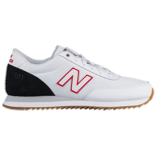 These men's New Balance 501 sneakers can be dressed up or down for a versatile and comfy style year-round. Drawing inspiration from traditional New Balance running shoes, 501's permit breathability with nylon upper, while a perforated and removable midsole keeps your feet dry and eliminates odor. Nylon upper creates a breathable construction. ENCAP technology in midsole gives you the utmost comfort. A textile-lined and removable midsole provides impact-absorption padding. Padded collar and tongue offers a snug fit and support. Rubber outsole enhances durability and traction.