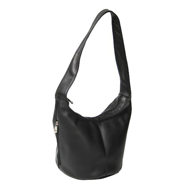 This Royce Leather hobo bag keeps you stylish and organized. In black. : Interior zippered pocket ensures items are secure. Vertical exterior zip pocket keeps essentialson hand. Handcrafted, full-grained leather ensures quality. : 10H x 12W x8 1/2D Leather Wipe clean Manufacturer's 1-year limited warrantyFor warranty information please click here Model no. Vlhbszp-BLK Size: One Size. Gender: Female. Age Group: Adult. Pattern: Solid.