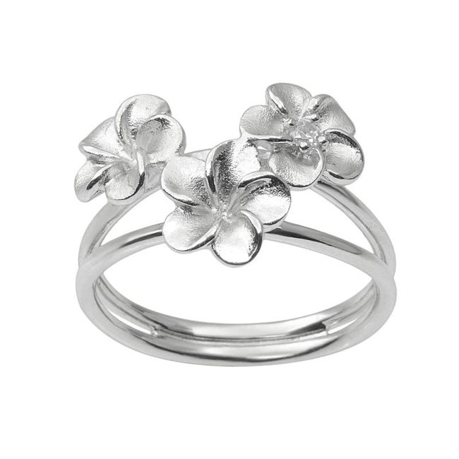 Feminine flair. Floral details add delicate charm to this Journee Collection sterling silver ring. Ring Details Width: .63 in. Metal: sterling silver Size: 6. Color: Grey. Gender: Female. Age Group: Adult.