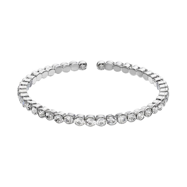 You'll love the sparkling beauty of this Duchess of Dazzle crystal bangle bracelet. Bracelet Details Diameter: one size fits most Metal: rhodium-plated brass Color: White. Gender: Female. Age Group: Adult.