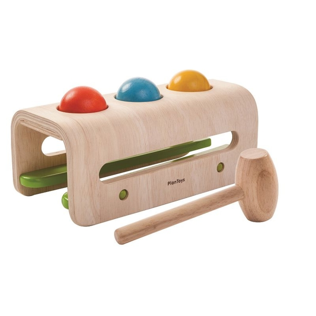 Improve a variety of your child's skills with this hammer ball toy from Plan Toys. Improves hand-eye coordination Aids aligning, slotting & aiming skills What's Included 3 balls 1 hammer 1 base 4.92H x 4.530W x 11.010D Ages 12 months & up Wood Manufacturer's 1-year limited warrantyFor warranty information please click here Model no. 5348 Size: One Size. Color: Multicolor. Gender: Unisex. Age Group: Infant.