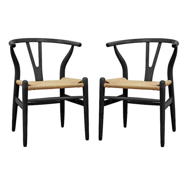 Give your home decor a modern upgrade with this Baxton Studio Wishbone chair. Modern design Contoured back provides ultimate comfort Durable wood construction ensures longevity 29H x 21.62W x 22D 20.5-in. seat height Wood Wipe clean Manufacturer's 30-day limited warrantyFor warranty information please click here Note: not weight tested Model Numbers White: DC-541-White Black: DC-541-Black Natural: DC-541-Natural Size: One Size. Gender: Unisex. Age Group: Adult.
