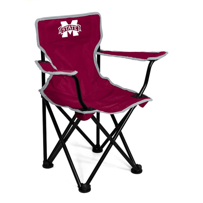 This Mississippi State Bulldogs chair from Logo Brand is perfect for your fan-in-training. Team graphics on the front and back showcase your toddlers' team pride. They'll love to use this chair for tailgating or relaxing. Includes: chair & carry bag 12 x 22 x 20.5 For ages 1-3, up to 50 pounds Polyester, steel Imported Shop our full assortment of Mississippi State Bulldogs items here. When you're a fan, you're family! Size: One Size. Color: Multicolor. Gender: Unisex. Age Group: Kids. Material: Steel/Polyester.