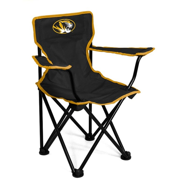 This Missouri Tigers chair from Logo Brand is perfect for your fan-in-training. Team graphics on the front and back showcase your toddlers' team pride. They'll love to use this chair for tailgating or relaxing. Includes: chair & carry bag 12 x 22 x 20.5 For ages 1-3, up to 50 pounds Polyester, steel Imported Shop our full assortment of Missouri Tigers items here. When you're a fan, you're family! Size: One Size. Color: Multicolor. Gender: Unisex. Age Group: Kids. Material: Steel/Polyester.