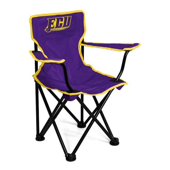 This East Carolina Pirates chair from Logo Brand is perfect for your fan-in-training. Team graphics on the front and back showcase your toddlers' team pride. They'll love to use this chair for tailgating or relaxing. Includes: chair & carry bag 12 x 22 x 20.5 For ages 1-3, up to 50 pounds Polyester, steel Imported Shop our full assortment of East Carolina Pirates items here. When you're a fan, you're family! Size: One Size. Color: Multicolor. Gender: Unisex. Age Group: Kids. Material: Steel/Polyester.