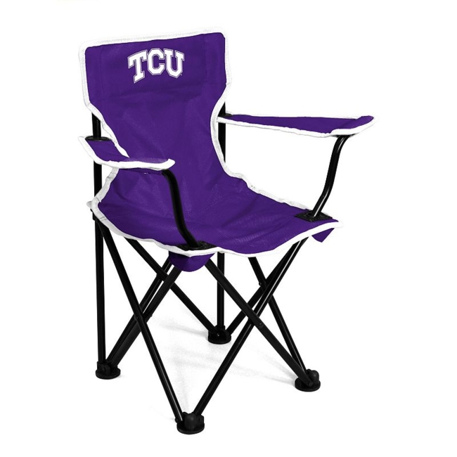 This TCU Horned Frogs chair from Logo Brand is perfect for your fan-in-training. Team graphics on the front and back showcase your toddlers' team pride. They'll love to use this chair for tailgating or relaxing. Includes: chair & carry bag 12 x 22 x 20.5 For ages 1-3, up to 50 pounds Polyester, steel Imported Shop our full assortment of TCU Horned Frogs items here. When you're a fan, you're family! Size: One Size. Color: Multicolor. Gender: Unisex. Age Group: Kids. Material: Steel/Polyester.