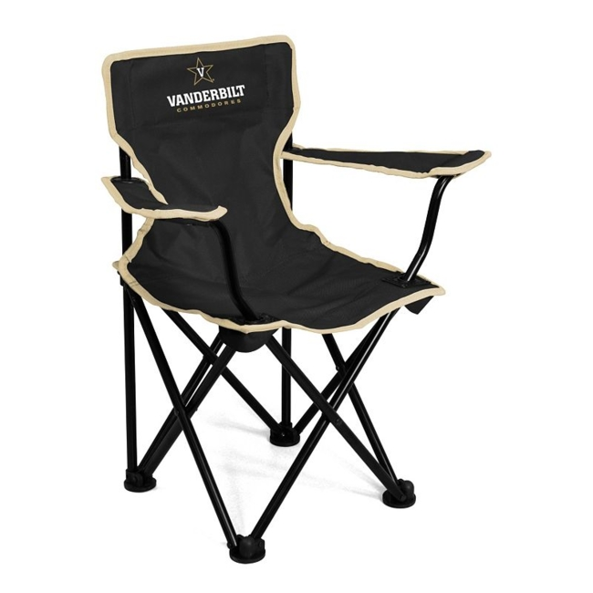 This Vanderbilt Commodores chair from Logo Brand is perfect for your fan-in-training. Team graphics on the front and back showcase your toddlers' team pride. They'll love to use this chair for tailgating or relaxing. Includes: chair & carry bag 12 x 22 x 20.5 For ages 1-3, up to 50 pounds Polyester, steel Imported Shop our full assortment of Vanderbilt Commodores items here. When you're a fan, you're family! Size: One Size. Color: Multicolor. Gender: Unisex. Age Group: Kids. Material: Steel/Polyester.