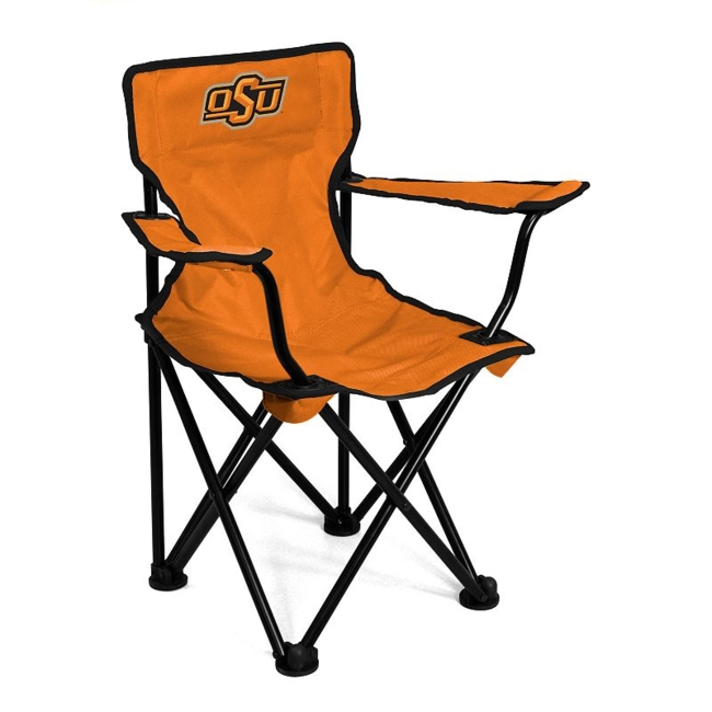 This Oklahoma State Cowboys chair from Logo Brand is perfect for your fan-in-training. Team graphics on the front and back showcase your toddlers' team pride. They'll love to use this chair for tailgating or relaxing. Includes: chair & carry bag 12 x 22 x 20.5 For ages 1-3, up to 50 pounds Polyester, steel Imported Shop our full assortment of Oklahoma State Cowboys items here. When you're a fan, you're family! Size: One Size. Color: Multicolor. Gender: Unisex. Age Group: Kids. Material: Steel/Polyester.
