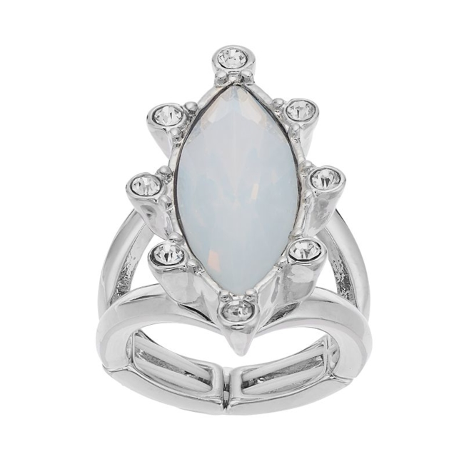 Put the perfect finishing touch on your outfit with this glamorous Jennifer Lopez stretch ring. Ring Details Width: 1.3 in. Plating: silver tone Not appropriate for children 14 years old and younger. Size: 7. Gender: Female. Age Group: Adult.