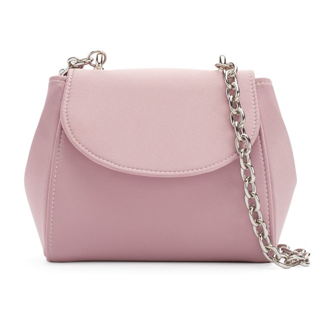 Fancy style starts with this Lenore by La Regale bag. Compact size 5H x 7W x 2.5D Drop down length: 22 Chain crossbody strap Magnetic snap closure Interior: card slot Satin Style no. RL30303 Size: One Size. Color: Pink. Gender: Female. Age Group: Adult.