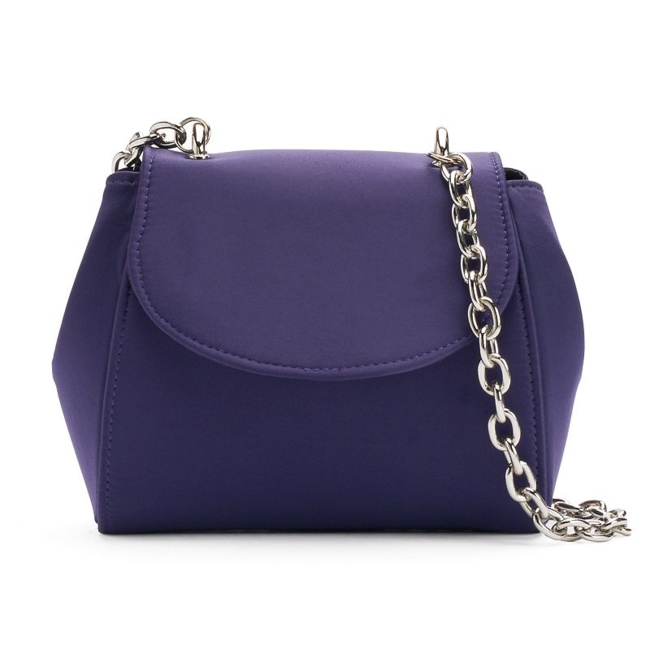 Fancy style starts with this Lenore by La Regale bag. Compact size 5H x 7W x 2.5D Drop down length: 22 Chain crossbody strap Magnetic snap closure Interior: card slot Satin Style no. RL30303 Size: One Size. Color: Blue. Gender: Female. Age Group: Adult.