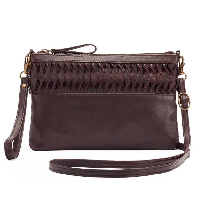 This R & R Leather crossbody bag features genuine leather details for long-lasting wear. Handbag Features Ruffled front Genuine leather Handbag Details 6H x 9W x 0.5D Approx. drop down length: 24 Adjustable/removable crossbody strap Wrist strap Zipper closure Exterior: zip pocket Interior: slip pocket & zip pocket Leather Size: One Size. Color: Brown. Gender: Female. Age Group: Adult.